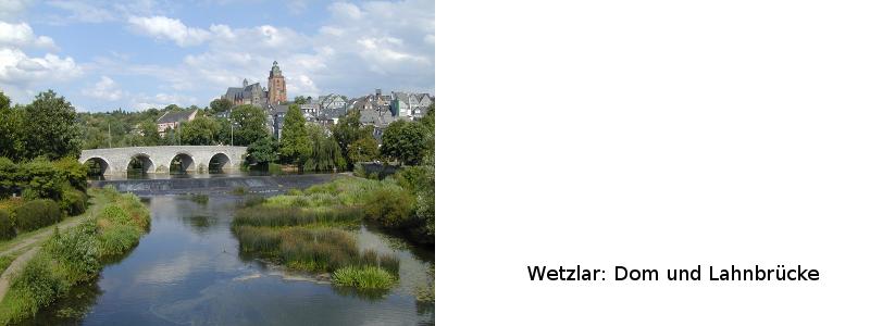 Dom und Lahnbrücke in Wetzlar
